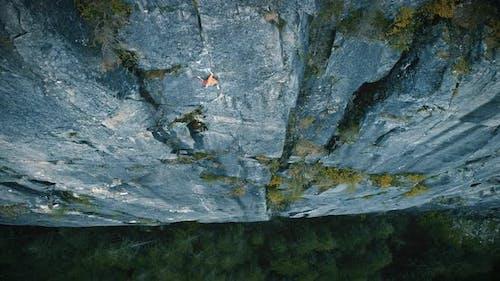 Rock Climbing Adrenaline Rush Overhead Aerial Angle