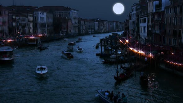 Thumbnail for Full Moon Over Grand Canal
