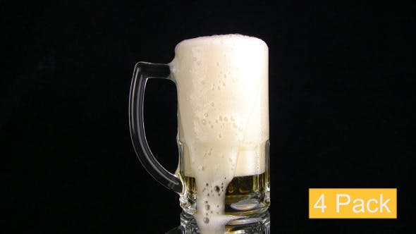 Thumbnail for Beer Is Poured In A Mug (4-Pack)