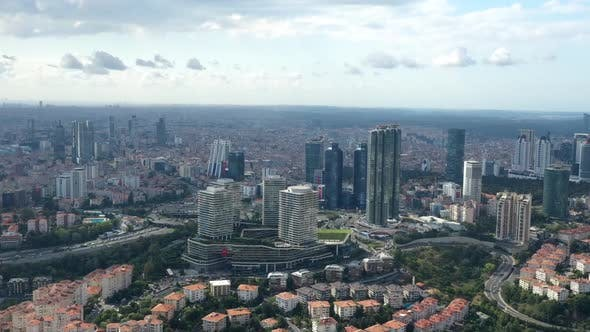 Thumbnail for City And Skyscrapers Aerial Hyperlapse