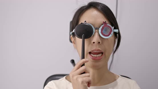 Thumbnail for Woman visit the eye clinic undergo eye exam