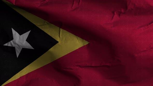 Thumbnail for East Timor Flag Textured Waving Background 4K