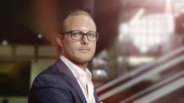 Handsome Young Entrepreneur Representing Successful Finance Career Job