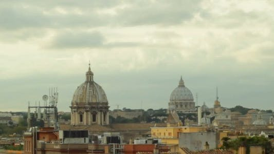 Thumbnail for Time Lapse Over Cloudy Rome