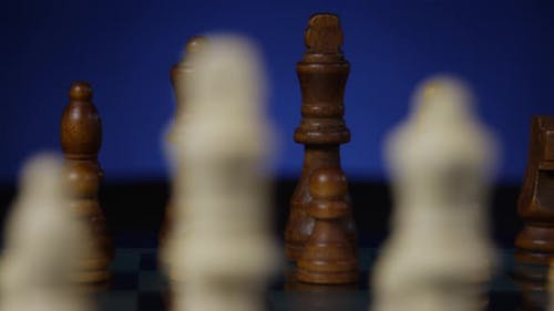 Chessboard And Chess Pieces 35