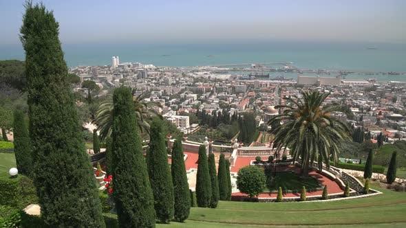 Baha'i Gardens from above