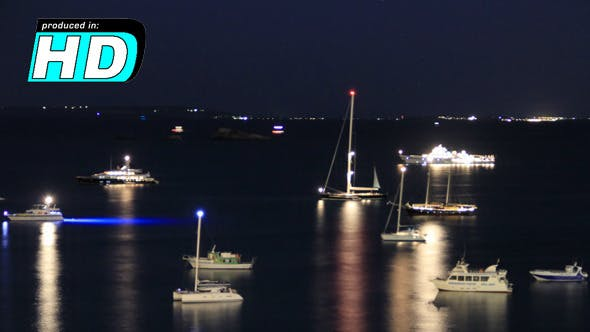 Thumbnail for Sea & Boats Night, Time Lapse