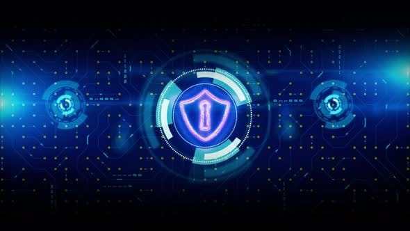 Shield Icon Of Cyber Security