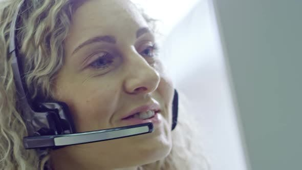 Thumbnail for Smiling Call Centre Operator Talking
