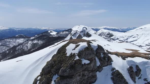 Aerial Winter on the Mountain