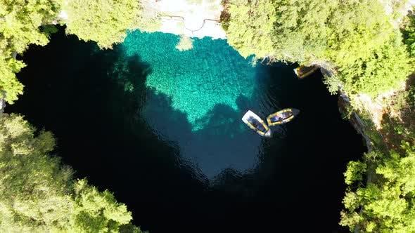 Thumbnail for Kefalonia Island, Greece - Famous Melissani Lake, Boat Trip. Summer Vacation