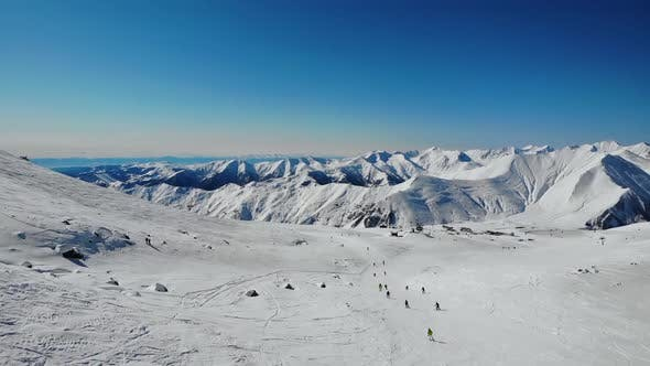 Thumbnail for Tourists Enjoying Sport in Winter Ski Resort