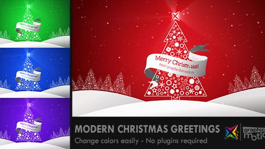 Thumbnail for Modern Christmas Greetings