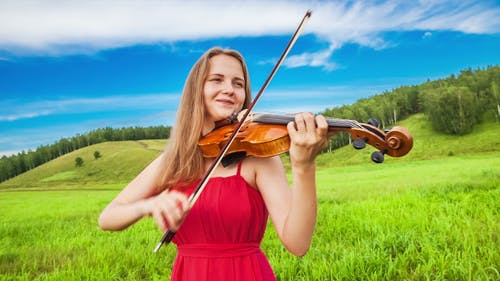 Violin Player in the Open Air