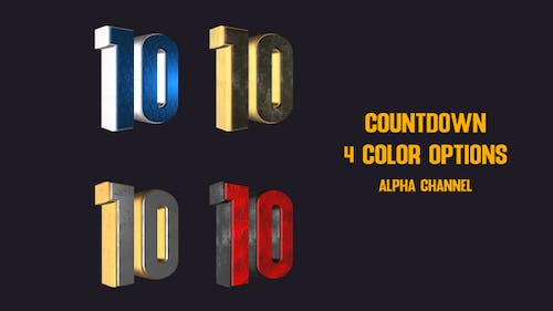 Countdown 4 Color Options