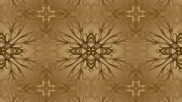 Gold Gentle Kaleidoscope Gentle gold kaleidoscope on silk infinite, loop