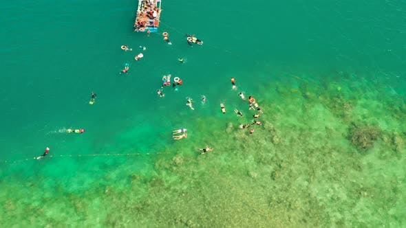 Thumbnail for Tourists Snorkeling in the Lagoon, Philippines, El Nido