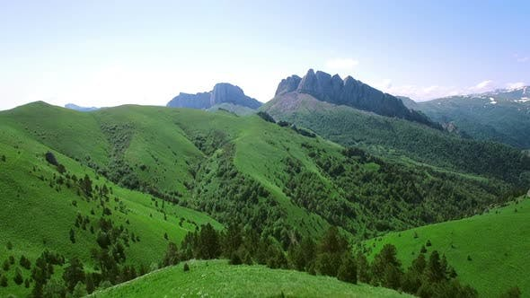 Thumbnail for Aerial View Above Mountain Acheshbock In Caucasus