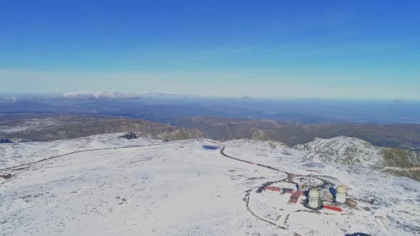 Thumbnail for Flying Over Frozen Mountain in Portugal