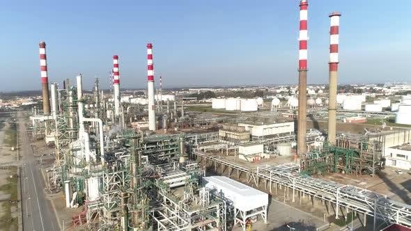 Petroleum Refinery in Huge Industrial Area