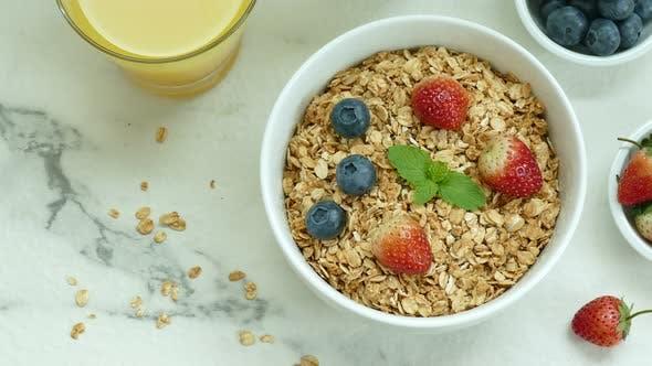 Breakfast set for the morning