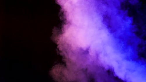 Rising Clouds of Colorful Smoke