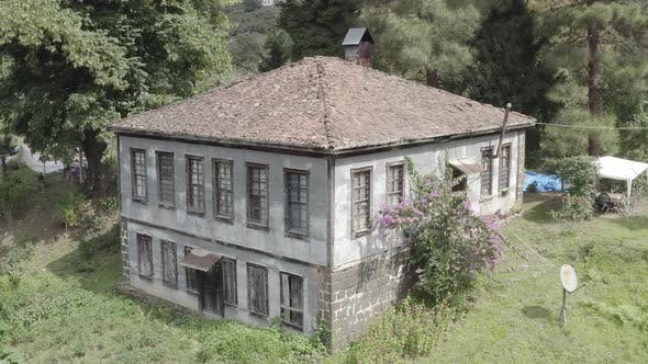 Thumbnail for Trabzon City Old House Forest And Mountains Aerial View 3