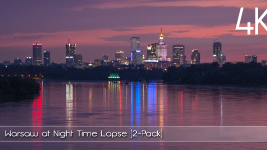 Thumbnail for Warsaw at Night Time Lapse (2-Pack)