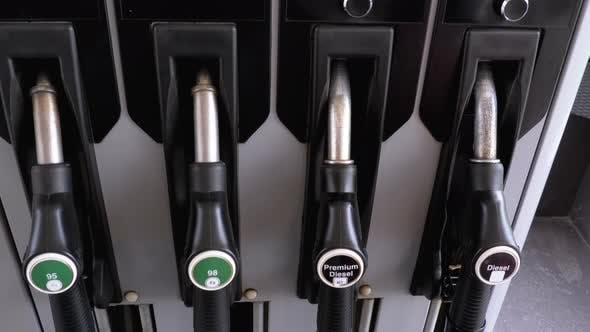 Thumbnail for Gasoline or Petrol Station Gas Fuel Pump Nozzl, Different Gasoline Gun
