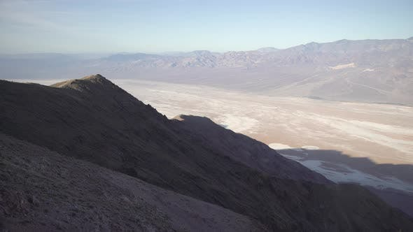 Thumbnail for Pan right of mountains in Death Valley