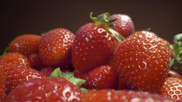 Thumbnail for Dolly Zoom To the Fresh Ripe Strawberries, Cooking Strawberry, Food Macro Shooting, Full Prores HQ