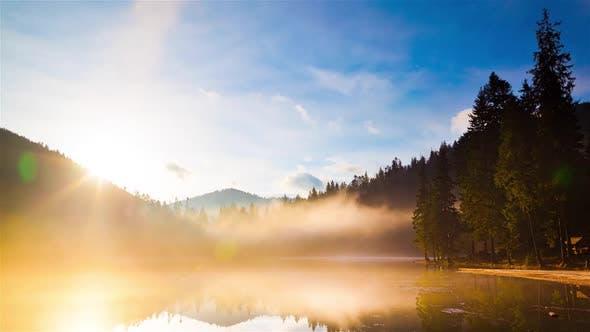 Thumbnail for Zeitraffer Technic Time Lapse at Sinevir Lake in Carpatian Mountains