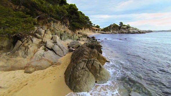 Thumbnail for Mediterranean Beach Aerial View 05