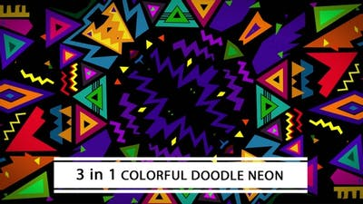 Colorful Doodle Neon