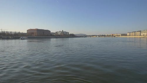The Danube River flowing