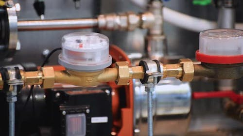 Water Meters and Ball Valves on the Domestic Pipeline.