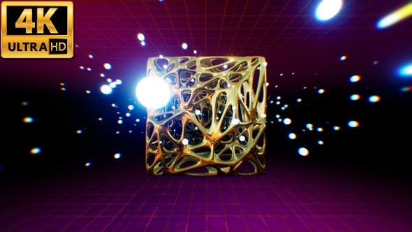 Thumbnail for Gold Retro Abstract Background 4k
