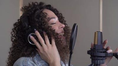 Singer in a Recording Studio