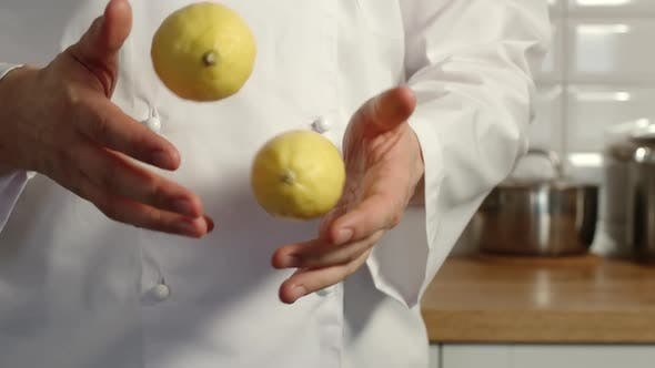 Thumbnail for Chief-Cooker Juggles A Lemons In A Kitchen