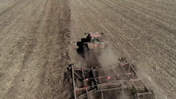 Thumbnail for Tractor Plowing Fields - Preparing Land for Sowing