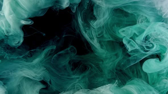 Mint Green Acrilic Liquid Glitter Texture