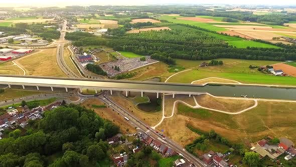 Thumbnail for pont canal du sart bridge in Belgium