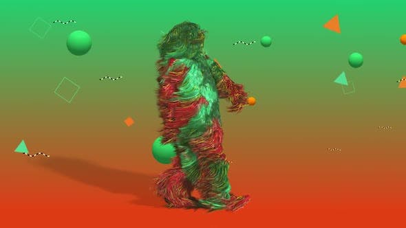Cover Image for VJ Walking Hairy Man