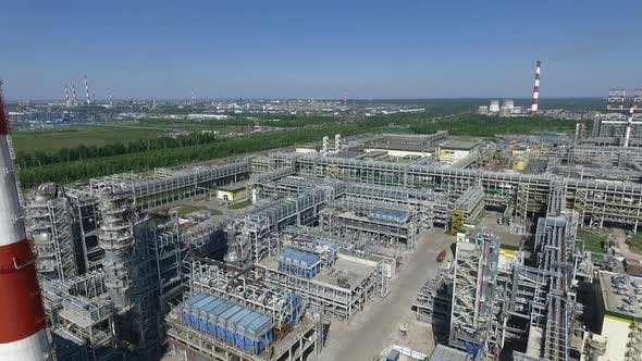 Thumbnail for Aerial View of Oil Refinery