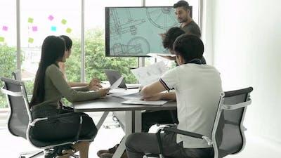 Business meeting team