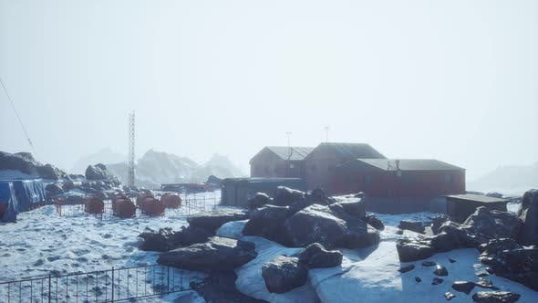 Science Station in Antarctica at Summer