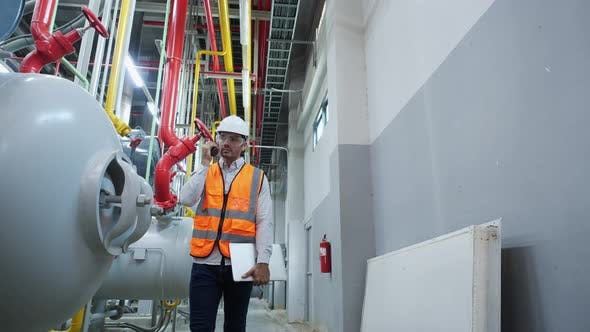 Industrial engineer working and communication