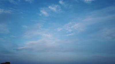 Light Blue Sky and Cirrus Clouds Time Lapse