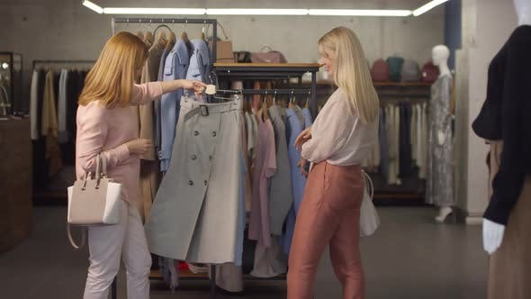 Thumbnail for Women Shopping for Clothes Together