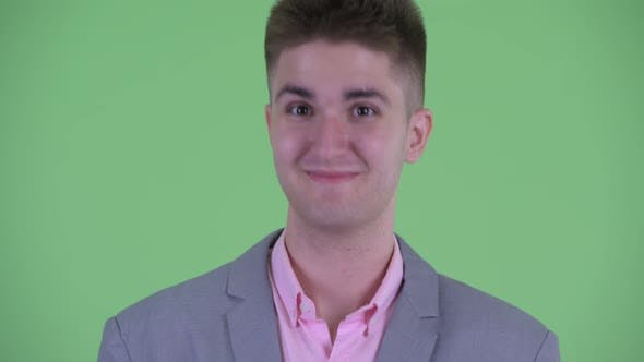 Thumbnail for Face of Happy Young Businessman Nodding Head Yes